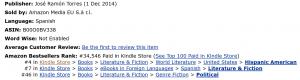 Amazon Ranking - 2014-12-12 - UK